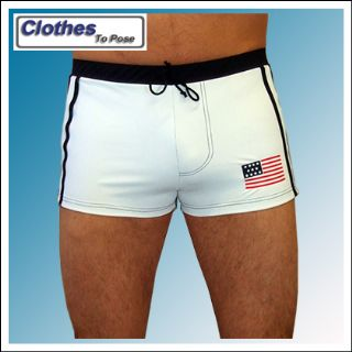 USA Swimsuit - European Board Shorts - Mens Swim Trunks